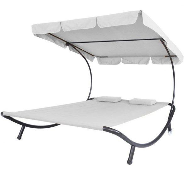 Napozó ágy napernyővel, szürke