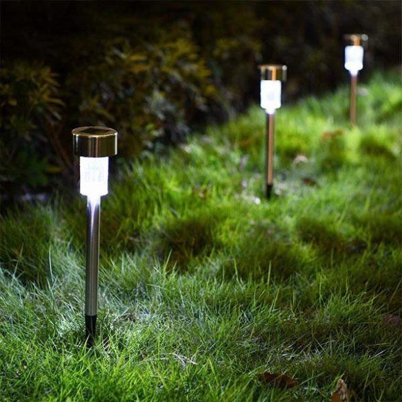 Inox leszúrós szolár lámpa csomag (10db)