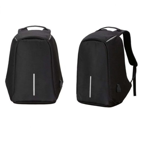 Lopásbiztos hátizsák, fekete