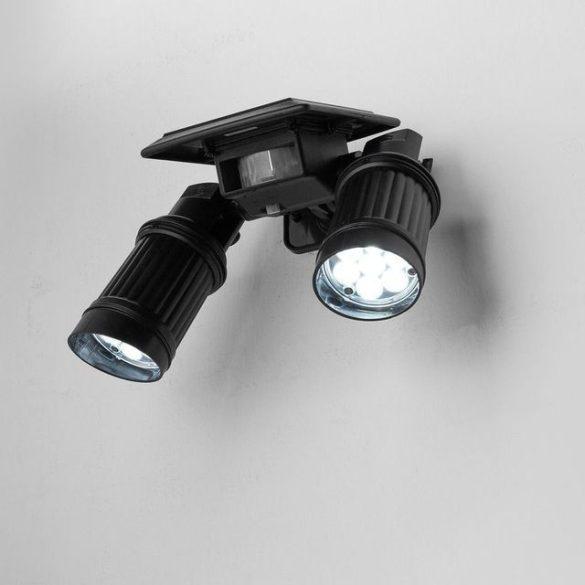 Két ágú szolár LED lámpa mozgásérkékelővel
