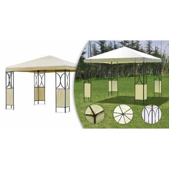 Fémvázas pavilon 3x3 bézs