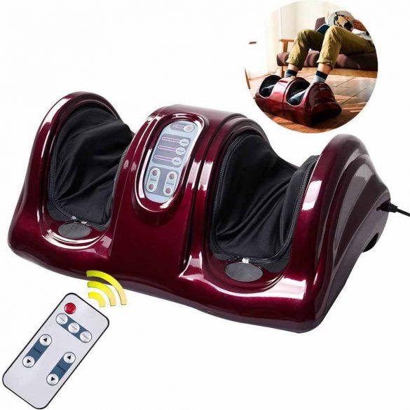 Elektromos lábmasszírozó gép, burgundy