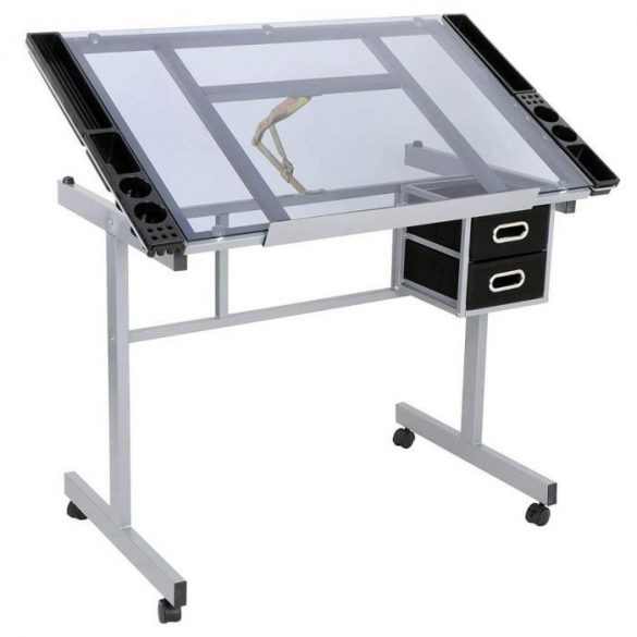 Tervező asztal, dönthető lappal