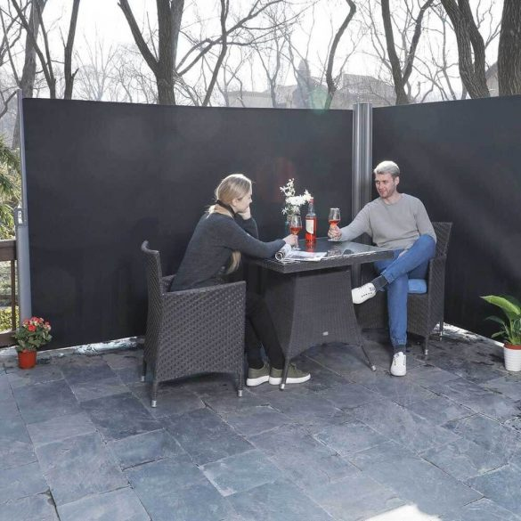 Dupla Kihúzható árnyékoló fal, 2*160*300 cm, szürke