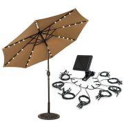 Napelemes dekor fényfüzér napernyőhöz