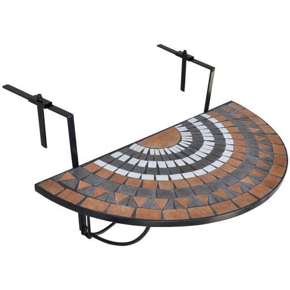 Lehajtható balkon asztal - barna