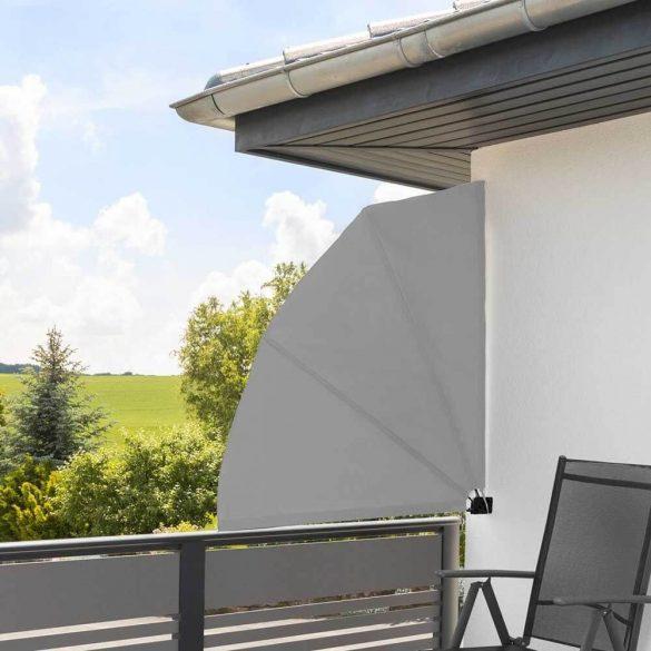 Legyező árnyékoló erkélyre, 140 cm - szürke