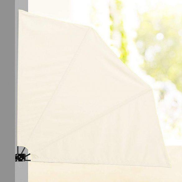 Legyező árnyékoló erkélyre, 140 cm - fehér