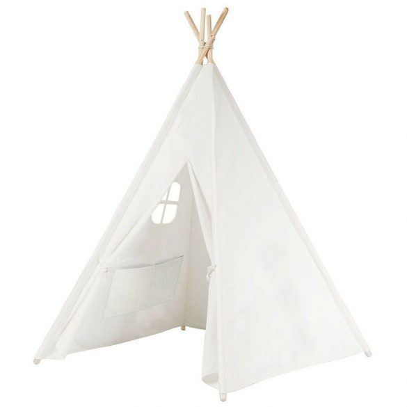 Indián sátor gyerekeknek, fehér