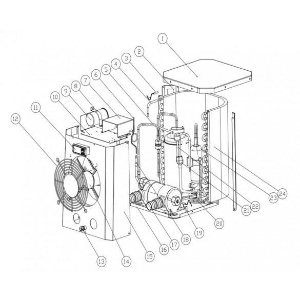 Pontaqua Mini Hőszivattyú, 2,5 kW (HSP 502)