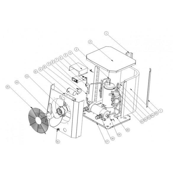 Pontaqua Mini Hőszivattyú, 4,2 kW (HSP 504)