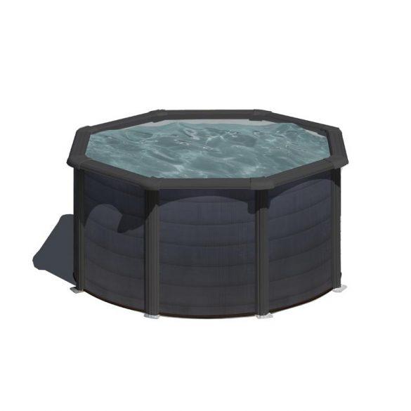 Gre graphite fémpalástos medence szett, vízforgatóval és létrával, D240 x 120 cm