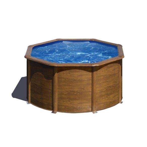 Gre famintás fémpalástos medence szett, vízforgatóval és létrával, D240 x 120 cm