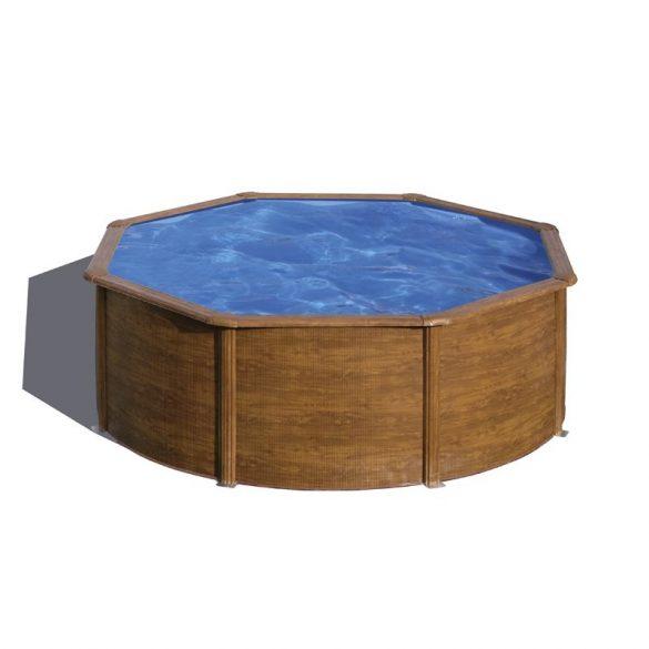 Gre famintás fémpalástos medence szett, vízforgatóval és létrával, D350 x 120 cm