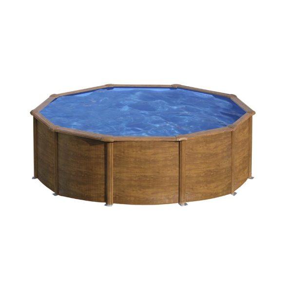 Gre famintás fémpalástos medence szett, vízforgatóval és létrával, D460 x 120 cm