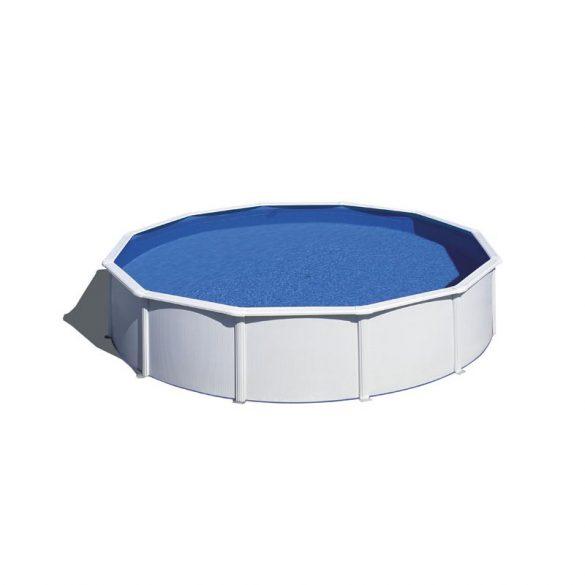 Gre fémpalástos medence szett, vízforgatóval és létrával, D550 x 120 cm