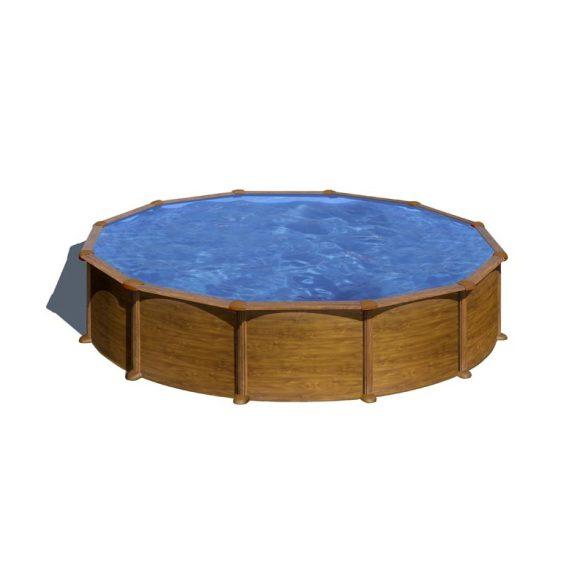 Gre famintás fémpalástos medence szett, vízforgatóval és létrával, D350 x 132 cm