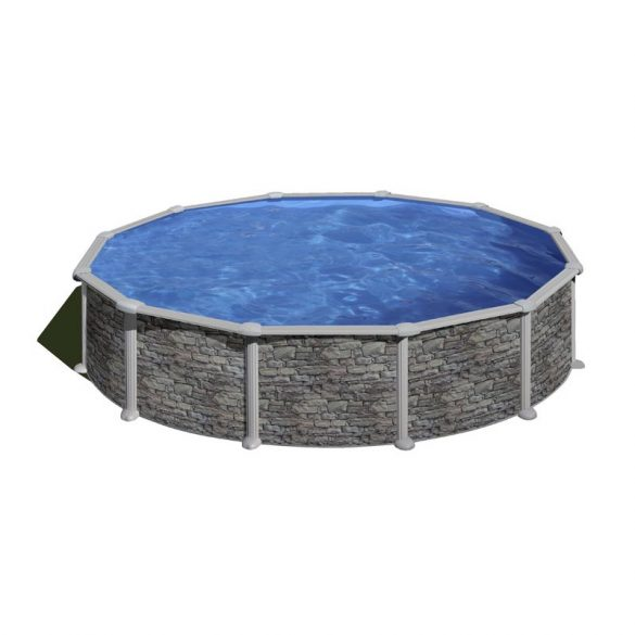 Gre rock fémpalástos medence szett, vízforgatóval és létrával, D550 x 132 cm