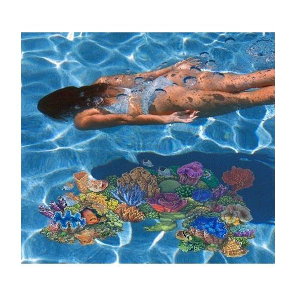 Víz alatti dekormatrica, színes hal, 20 x 29,4 cm