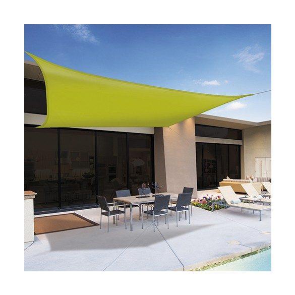 Napvitorla 5x5 négyzet alakú zöld színű 230g/m2