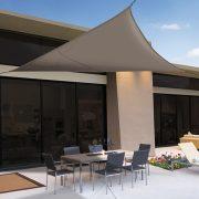 Napvitorla 5x5x5 háromszög alakú szürke színű 160g/m2