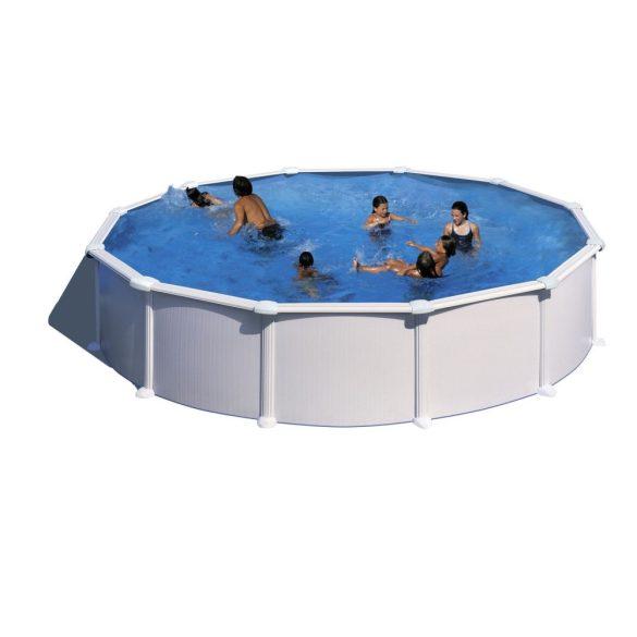 Gre fémpalástos medence, fóliával és szkimmerrel, D300x120cm