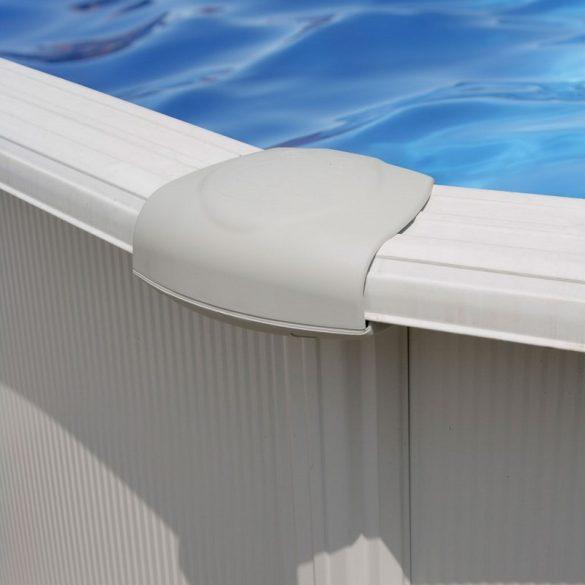 Gre fémpalástos medence, fóliával és szkimmerrel, D550x132cm