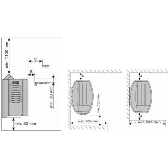 Harvia Vega szaunakályha vezérléssel BC45 4,5kW