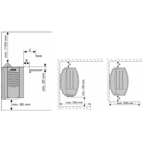 Harvia Vega szaunakályha vezérléssel BC90 9kW