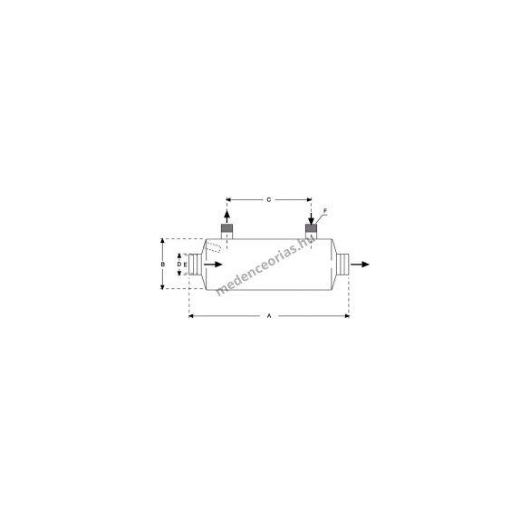 BEHNCKE, Acél hőcserélő AISI 316 40 KW