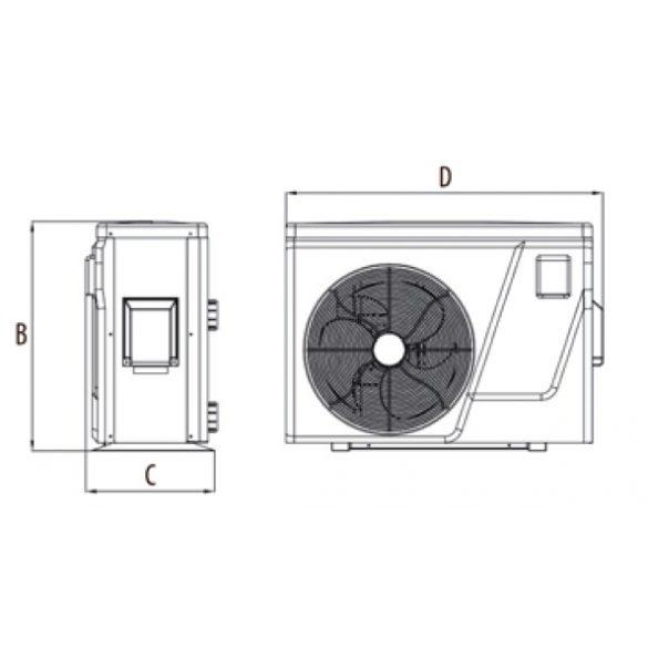ELITE Inverter medence hőszivattyú 9 kW