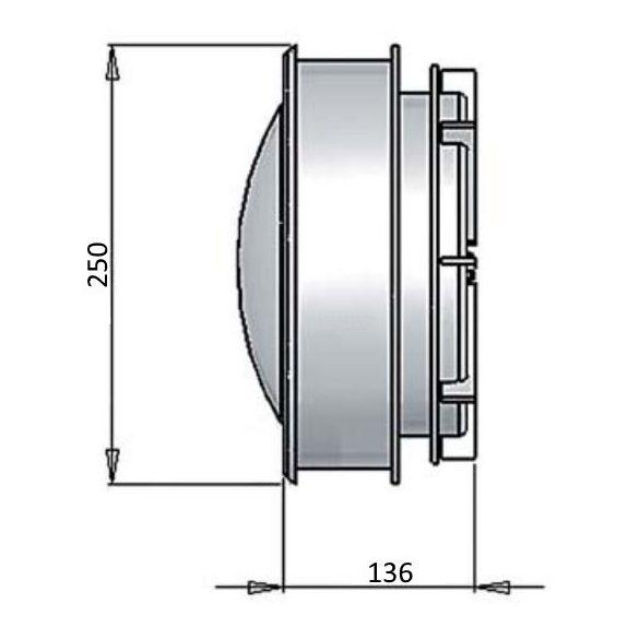 Vízalatti lámpa, 300W/12V, műanyag, fóliás medencéhez