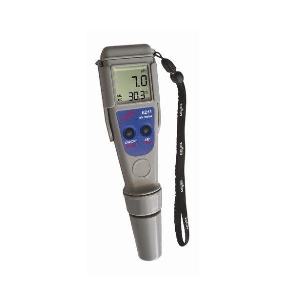 Digitális pH és hőmérséklet mérő AD11 - Ajándék kalibráló oldatokkal