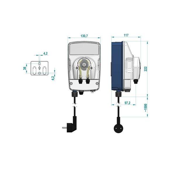 ePool komplett automata pH mérő és adagoló