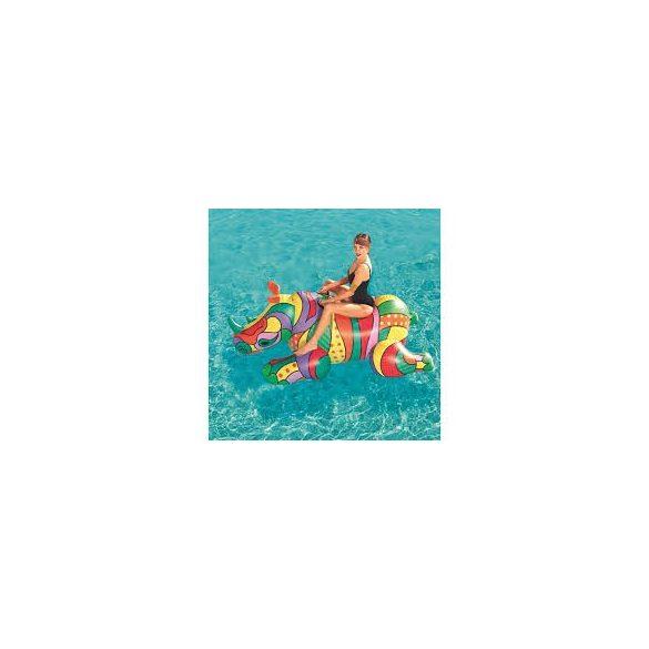 BESTWAY Pop Rhino színes úszó sziget orrszarvú 201 x 102 cm (41116)