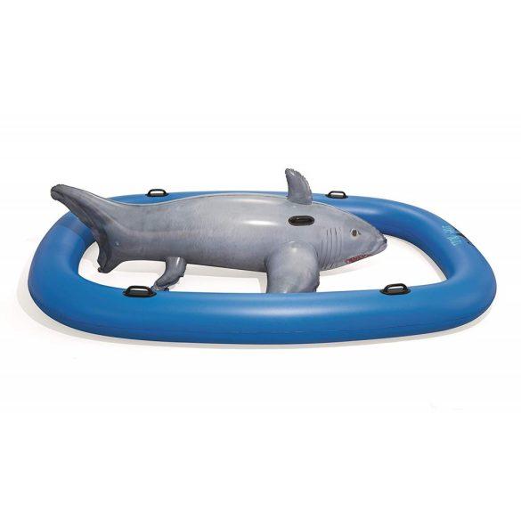 BESTWAY Tidal Wave Shark Rider úszó sziget cápa 310 x 213 cm (41124)
