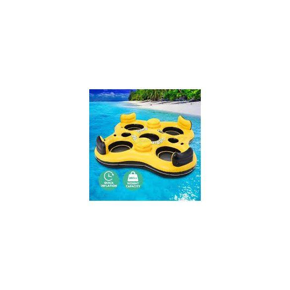 BESTWAY Rapid Rider Quad négyszemélyes úszó sziget 257 x 257cm (43115)