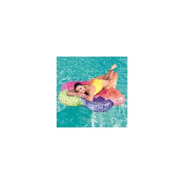 BESTWAY úszó sziget lábtartóval, kék/zöld, 188 x 115cm (43183)