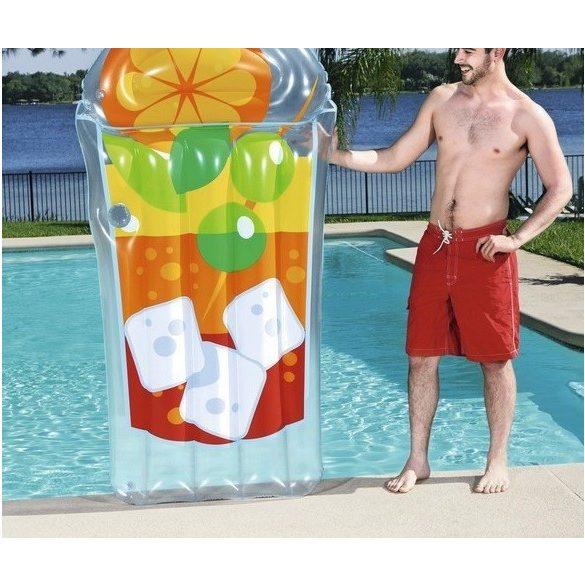 BESTWAY Tropical Beverage Lounge koktél alakú gumimatrac 190 x 99 cm (44037)