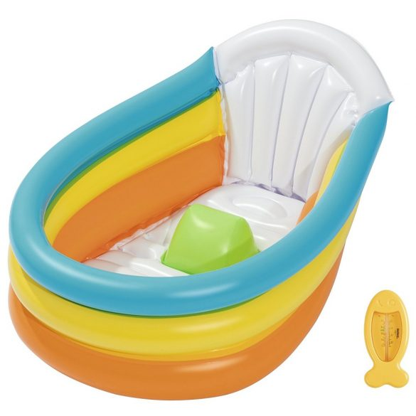BESTWAY Squeaky Clean felfújható baba fürdőkád 76 x 48 x 33 cm (51134)