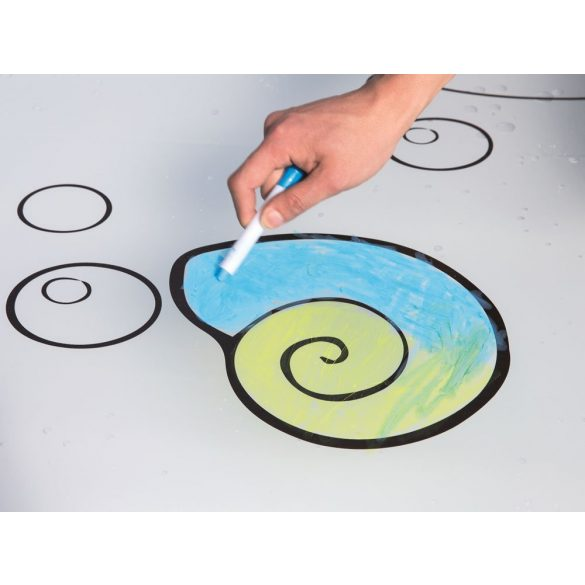 BESTWAY Fun Sketching Art Blobz rajzolós matrac, spriccelős, 300 x 201 cm (52223)