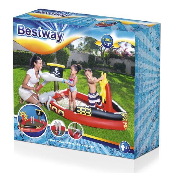 BESTWAY Pirate Play kalóz élménymedence 190 x 140 x 96cm (53041)