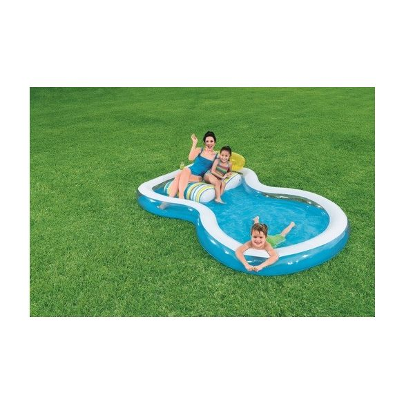BESTWAY Staycation Pool medence beépített gumimatraccal 279 x 234 x 48cm (54168)