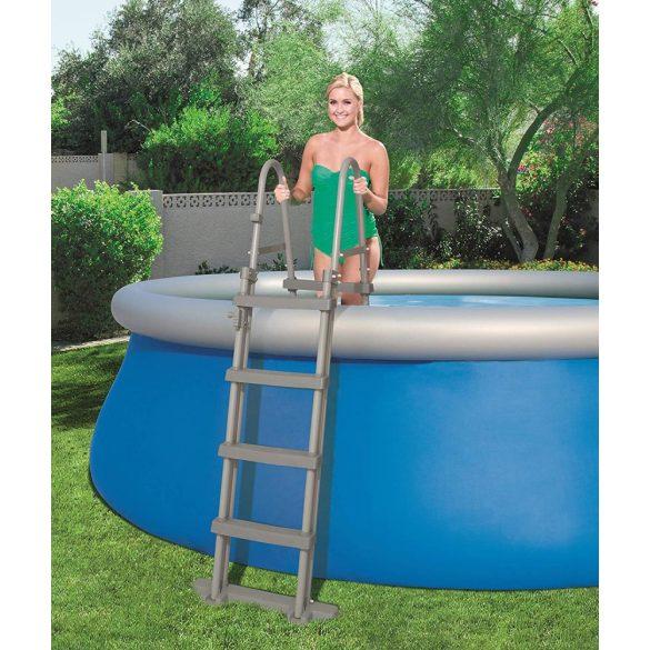 BESTWAY Biztonsági medence létra 4 fokos 122cm magas medencékhez (58331)