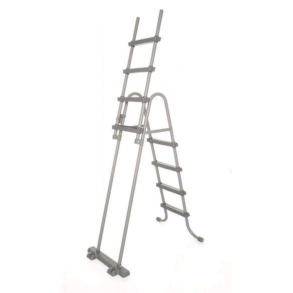 BESTWAY Biztonsági medence létra 4 fokos 132cm magas medencékhez (58332)