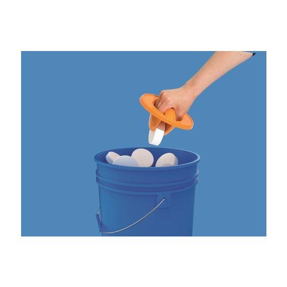 BESTWAY úszó MAXI vegyszer adagoló beépített vegyszerfogóval, narancssárga (58474)