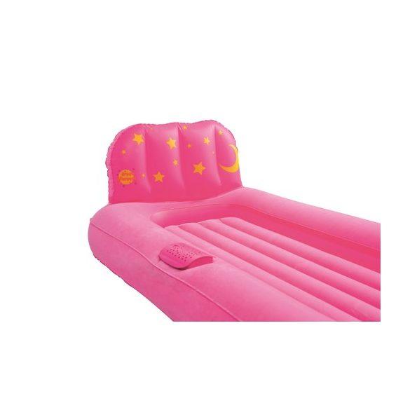BESTWAY Dream Glimmers felfújható gyermekágy éjszakai világítással, rózsaszín, 132 x 76 x 46cm (67496)