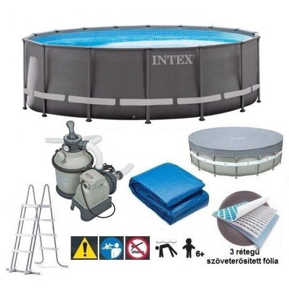INTEX UltraSet XTR medence 488 x 122 cm homokszűrővel (26326) 2020-as modell