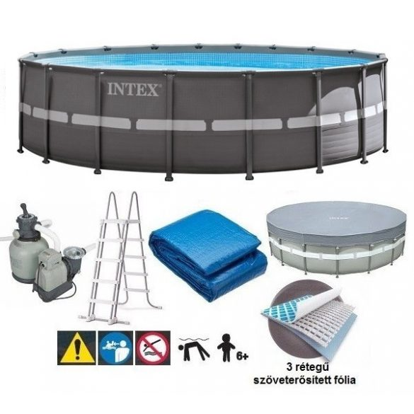 INTEX UltraSet XTR medence D7,32m x 132cm homokszűrővel (26340) 2020-as modell