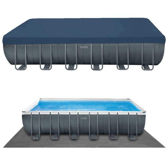INTEX UltraSet XTR négyszögletű medence 732 x 366 x 132 cm homokszűrővel és sóbontóval (26368) 2020-as modell